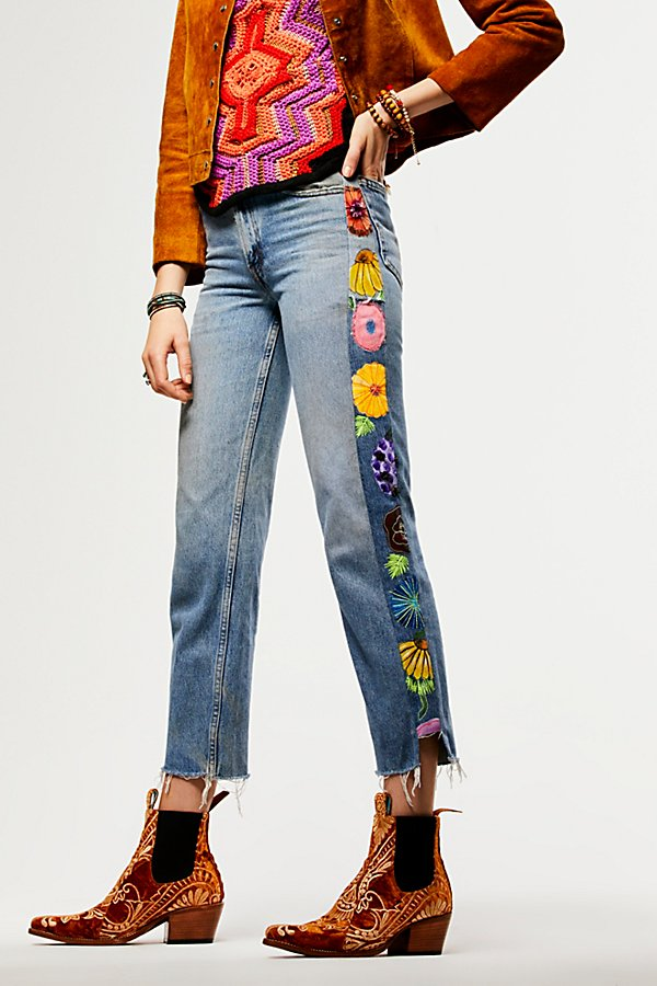 Slide View 1: Rialto Jean Project Embroidered Tuxedo Jeans