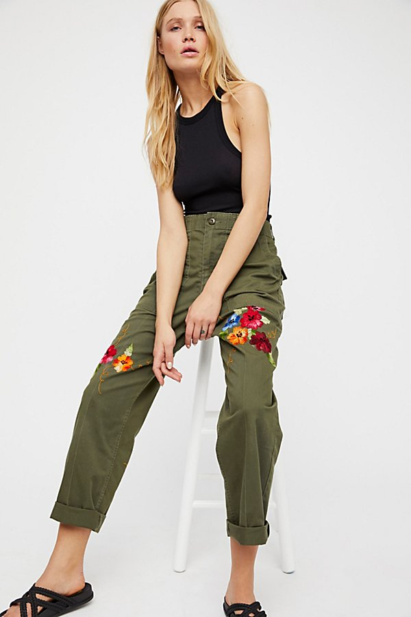 Slide View 2: Embroidered Military Trouser