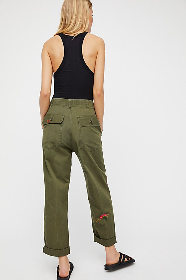 Slide View 3: Embroidered Military Trouser