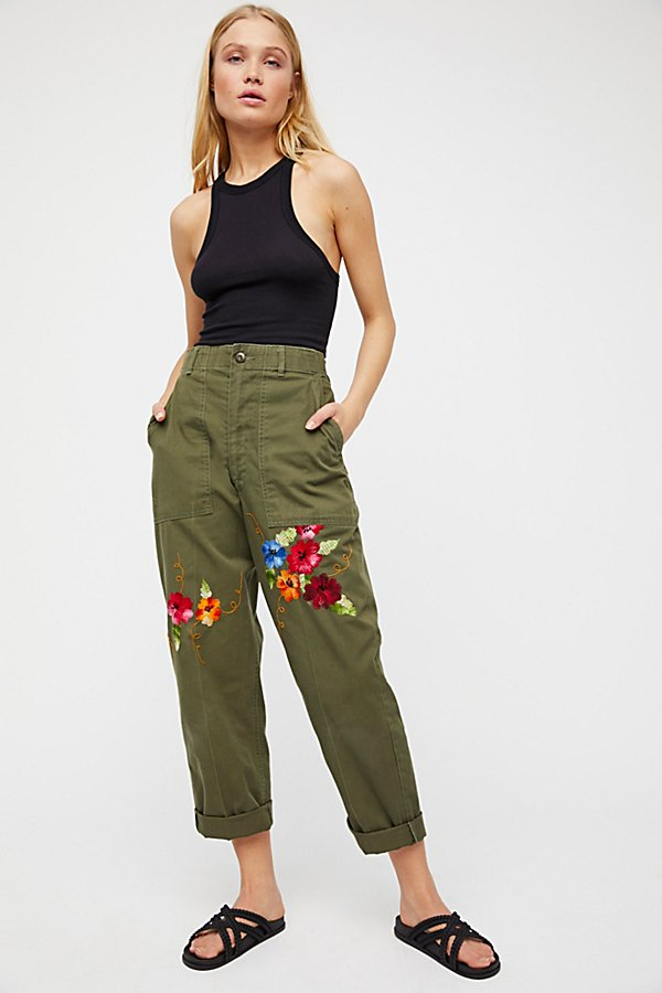 Slide View 4: Embroidered Military Trouser