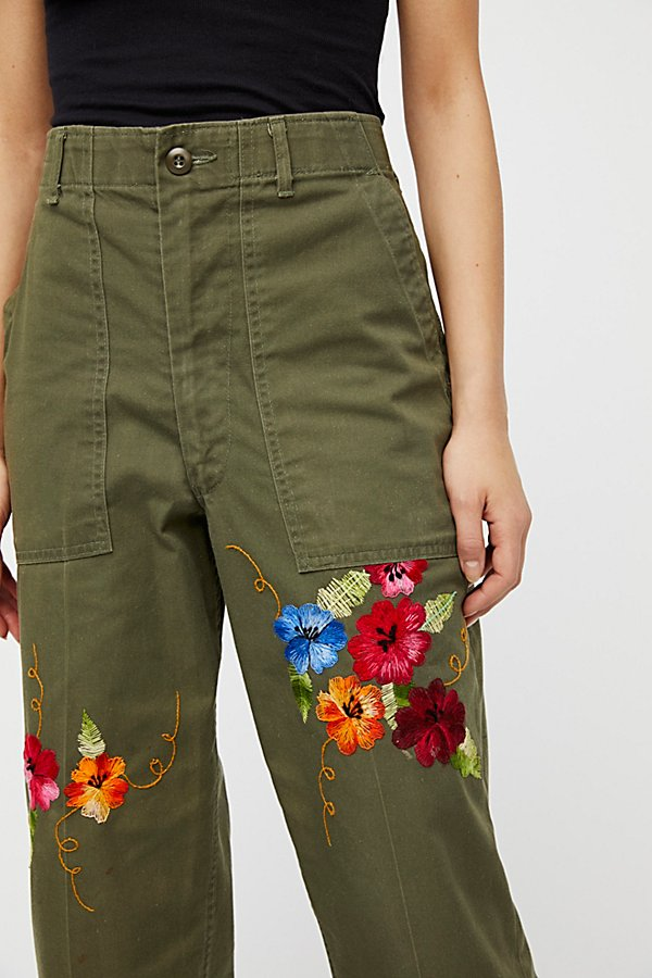 Slide View 5: Embroidered Military Pant