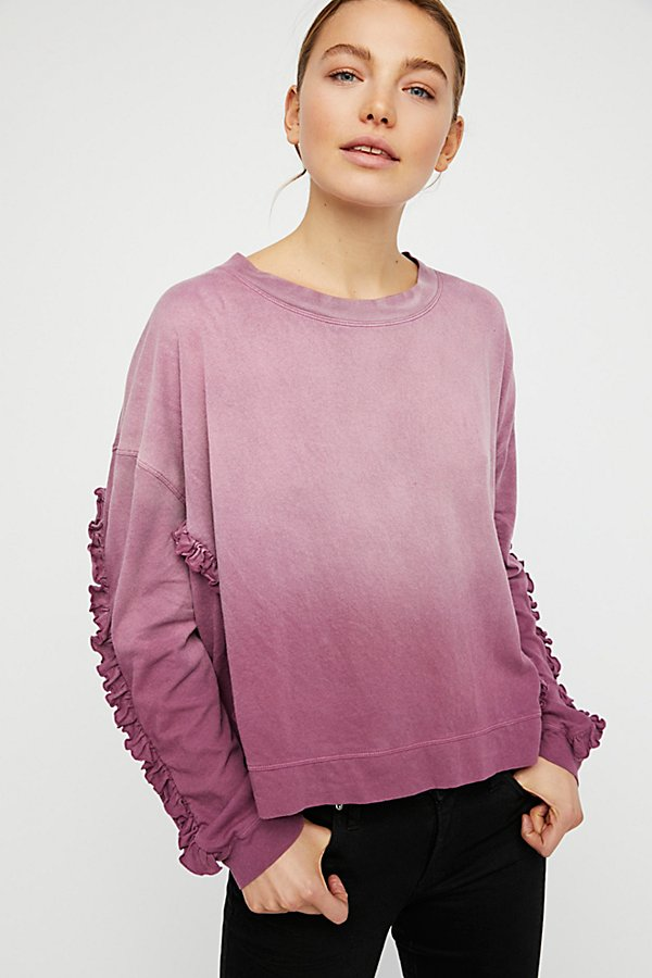 Slide View 1: Ruffle Sleeve Tee