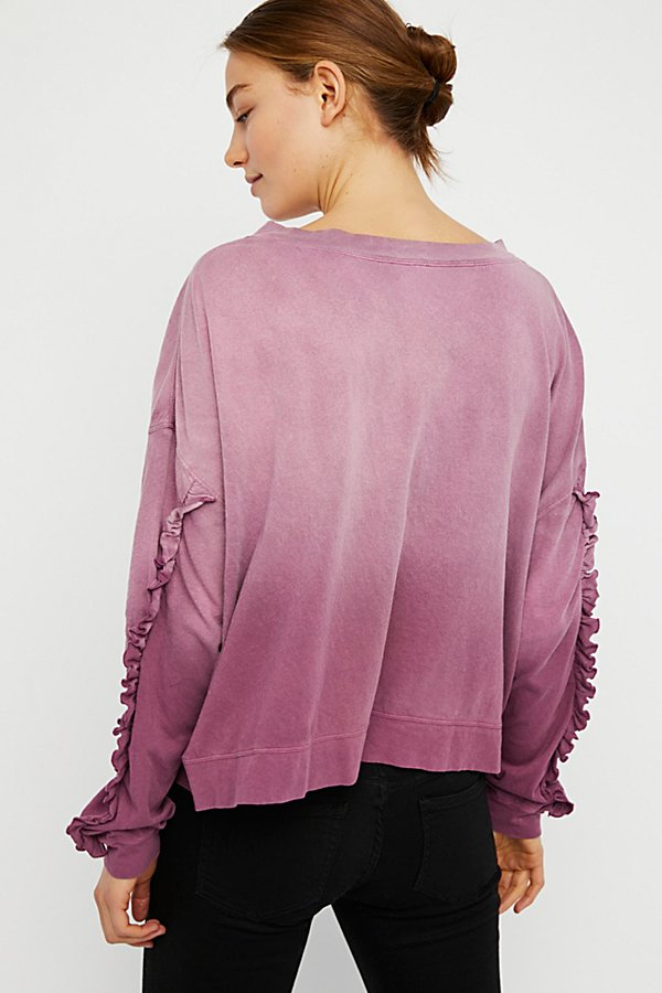 Slide View 2: Ruffle Sleeve Tee