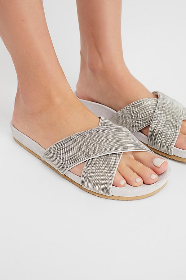 Slide View 3: Frosted Footbed Sandal