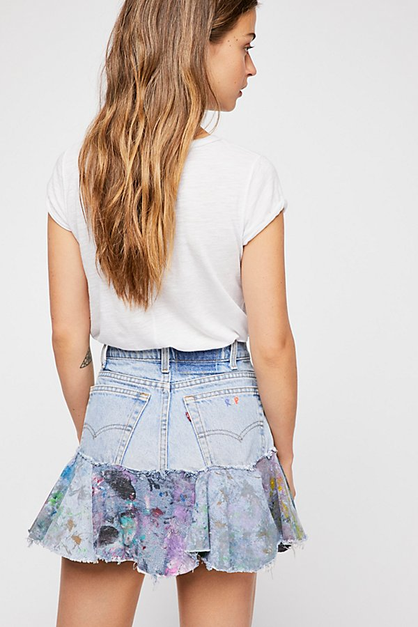 Slide View 2: Rialto Jean Project Painted Denim Skirt