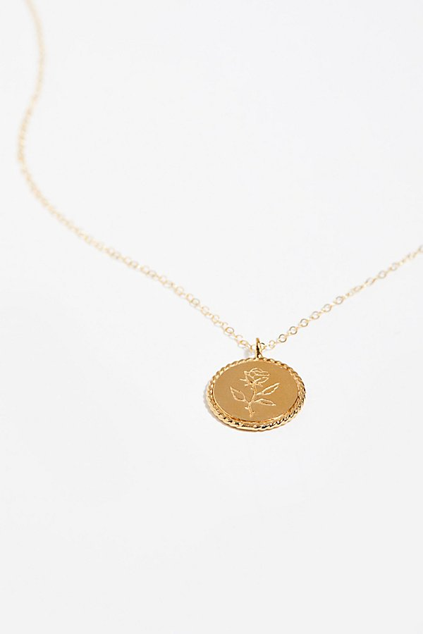 Slide View 3: Engraved Medallion Necklace