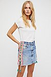 Thumbnail View 1: Tricia Fix Lace-Up Denim Skirt