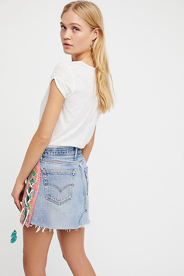 Slide View 2: Tricia Fix Lace-Up Denim Skirt