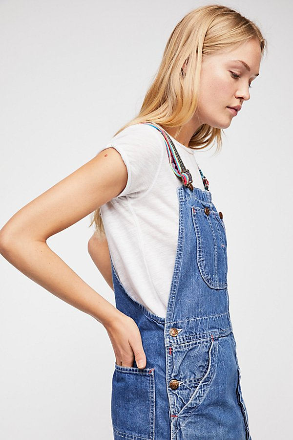 Slide View 3: Tricia Fix Reworked Denim Overalls