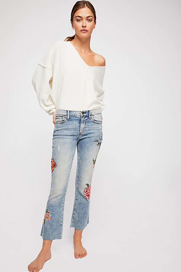 Slide View 1: Driftwood Roxy Crop Flare Jeans