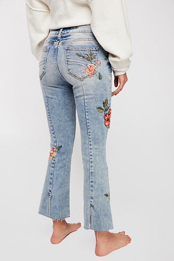 Slide View 3: Driftwood Roxy Crop Flare Jeans