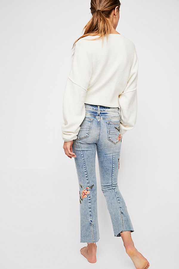 Slide View 4: Driftwood Roxy Crop Flare Jeans