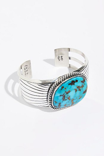 Square Chinese Turquoise Cuff