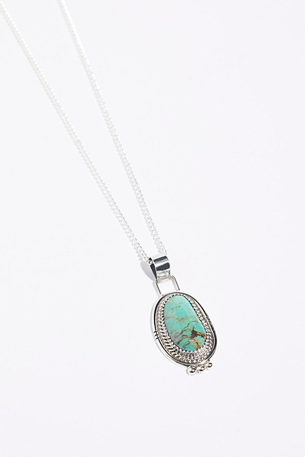 Slide View 1: Sterling Turquoise Pendant