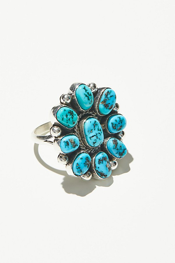Slide View 1: Sleeping Beauty Turquoise Cluster Ring