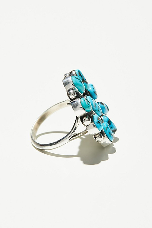 Slide View 2: Sleeping Beauty Turquoise Cluster Ring