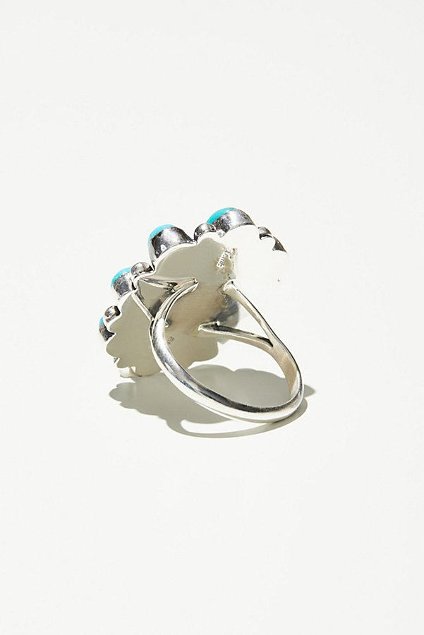 Slide View 3: Sleeping Beauty Turquoise Cluster Ring