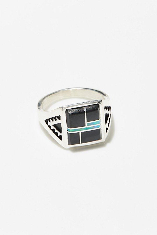 Slide View 1: Sterling Inlay Stone Ring