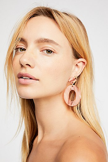 Kelly Resin Drop Hoop Earrings