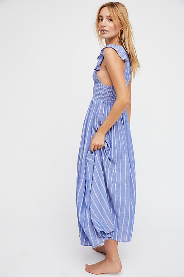 Slide View 2: Chambray Butterflies Midi Dress