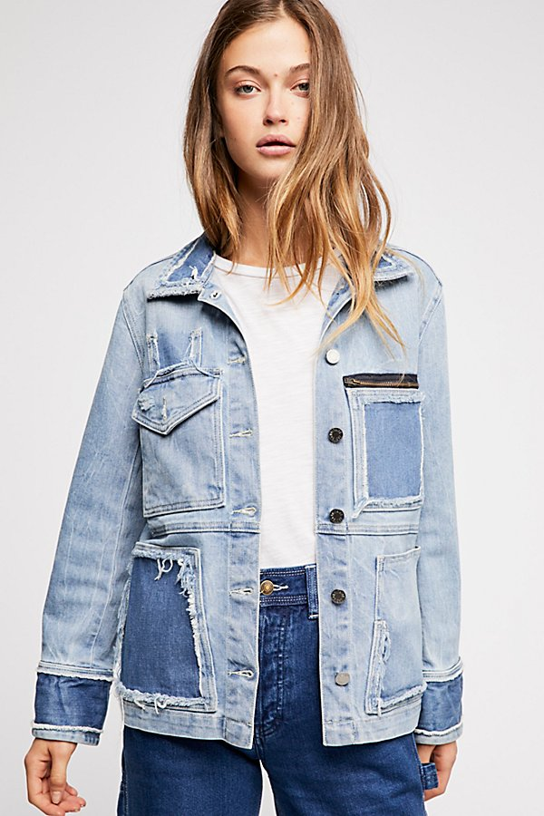 Slide View 1: Zadig & Voltaire Kick Destroy Denim Jacket