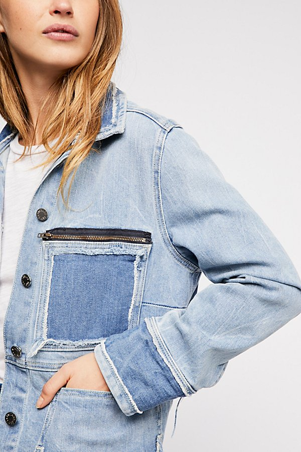 Slide View 3: Zadig & Voltaire Kick Destroy Denim Jacket