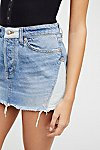 Thumbnail View 3: Patched Denim Mini Skirt