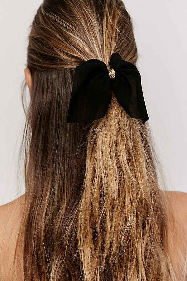 Slide View 1: Chiffon Bow Hair Claw