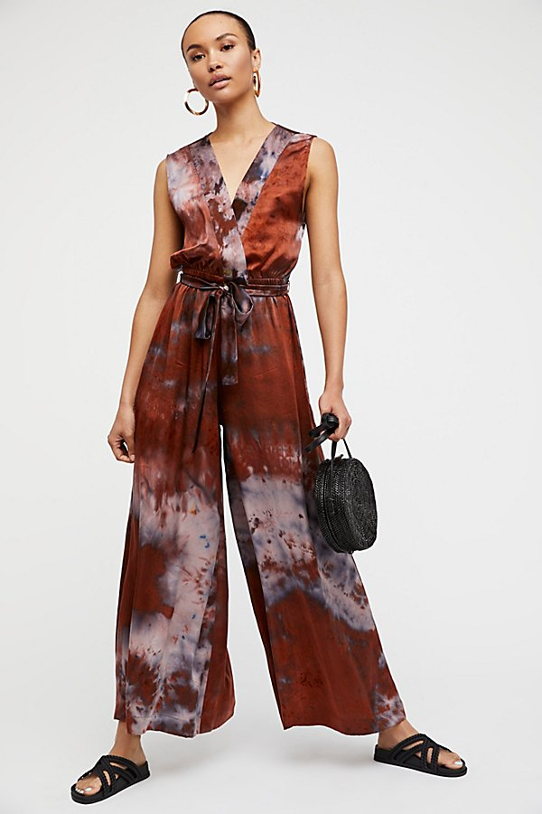 Slide View 1: Cleo Silk Jumpsuit