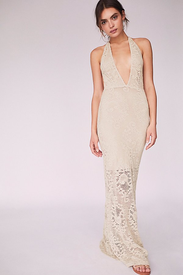 Slide View 1: Lima Crochet Maxi Dress