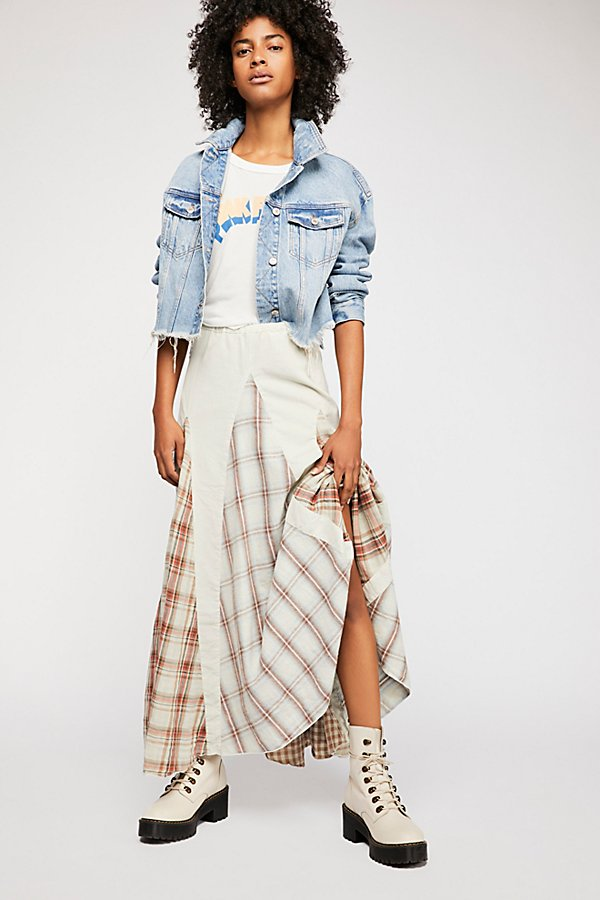 Slide View 2: Patchwork Maxi Skirt