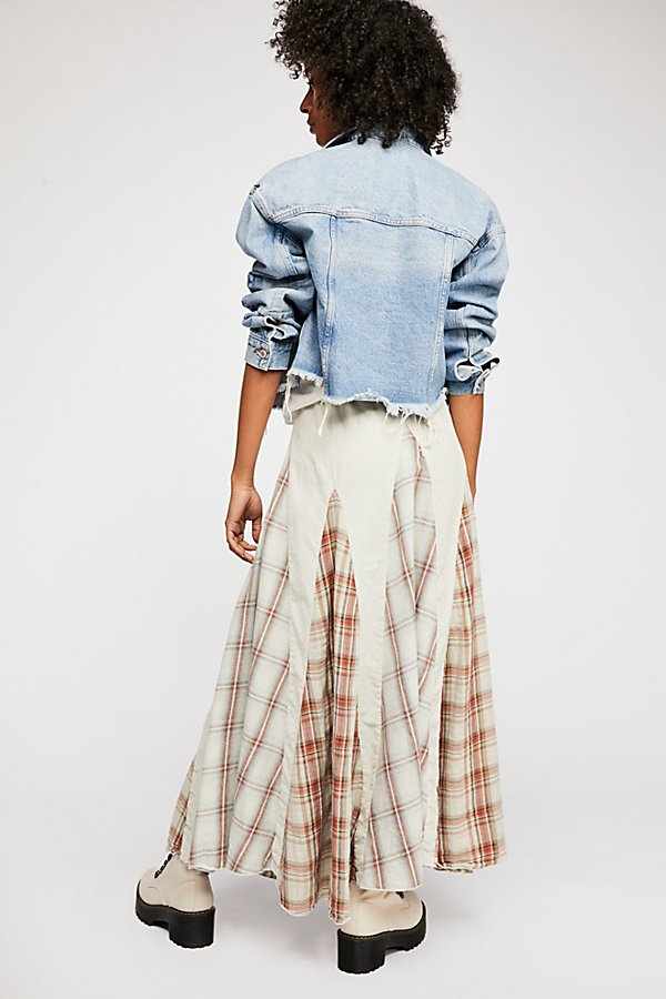 Slide View 3: Patchwork Maxi Skirt