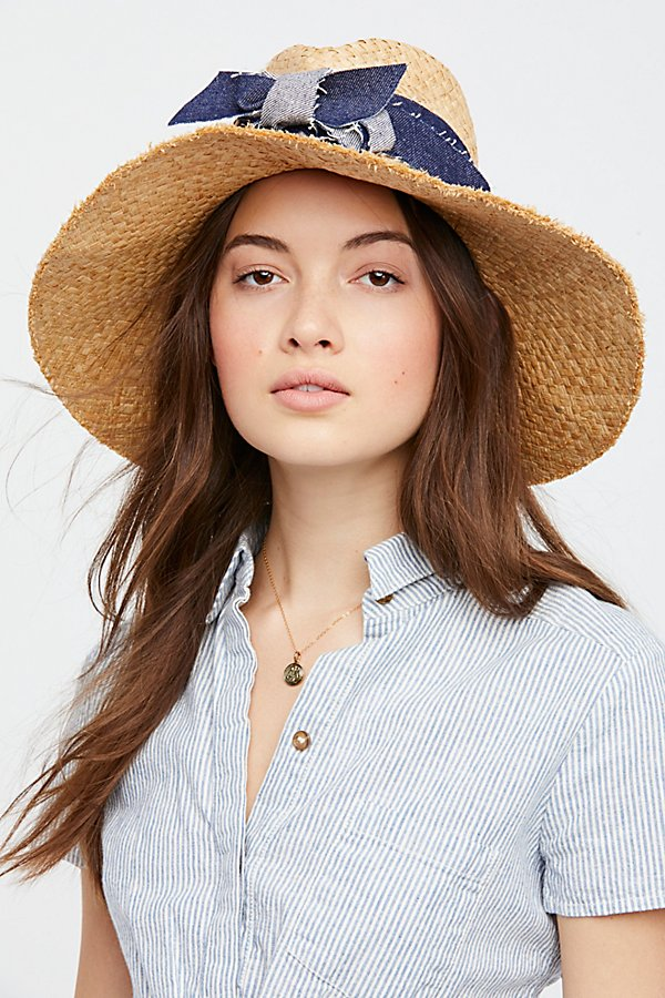Slide View 2: Blue Jeans Straw Hat