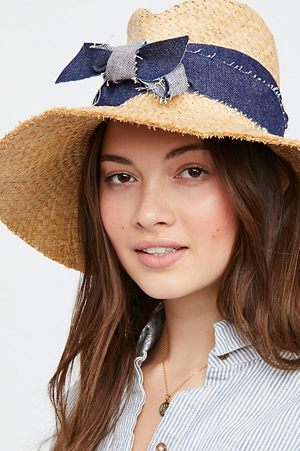 Slide View 1: Blue Jeans Straw Hat
