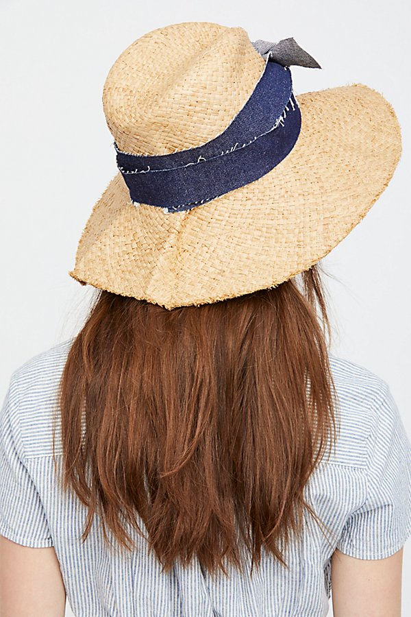 Slide View 3: Blue Jeans Straw Hat