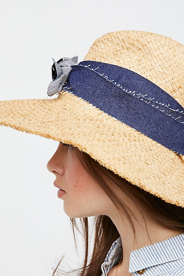 Slide View 4: Blue Jeans Straw Hat