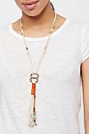 Thumbnail View 1: Alloy Ring Leather Bolo Necklace