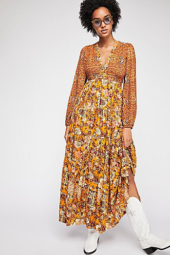 Dove Long Sleeve Maxi Dress