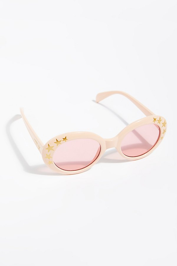 Slide View 2: Outta Sight Star Print Sunglasses