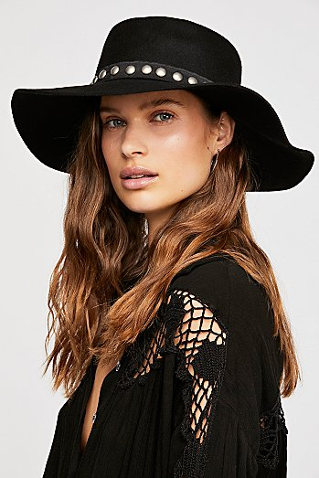 Fiori Studded Band Felt Hat