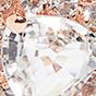 14K玫瑰金 / 白色蓝宝石