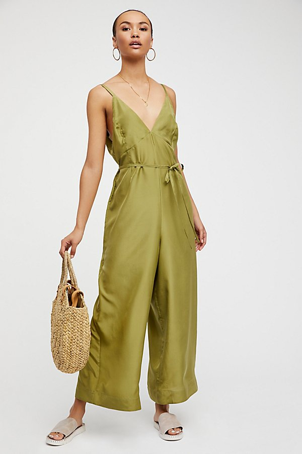 Slide View 1: Saffron Silk Jumpsuit