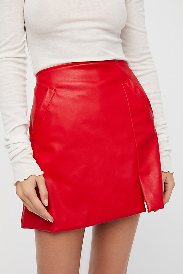 Slide View 4: Sasha Vegan Mini Skirt