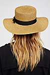 Thumbnail View 3: Marina Shimmer Straw Boater Hat