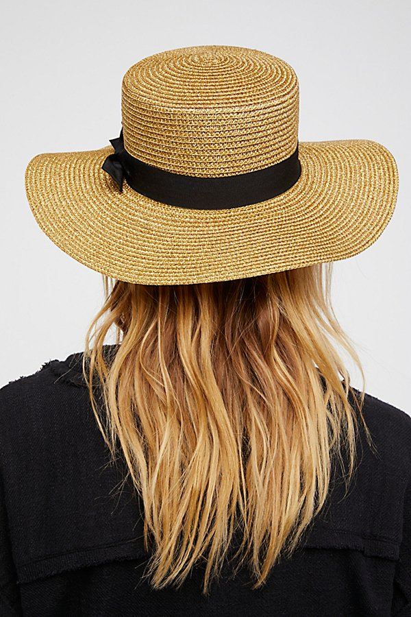 Slide View 3: Marina Shimmer Straw Boater Hat