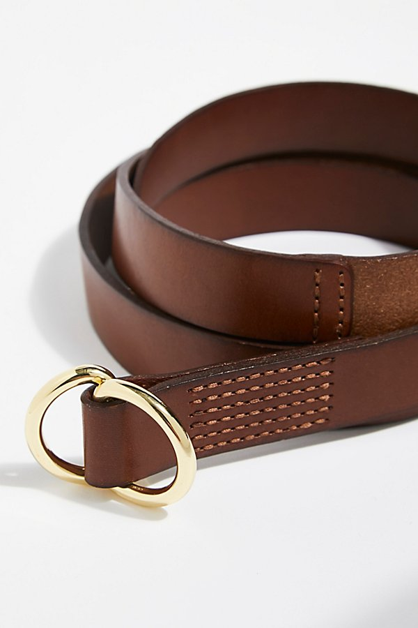Slide View 2: Skinny Mini Leather Wrap Belt