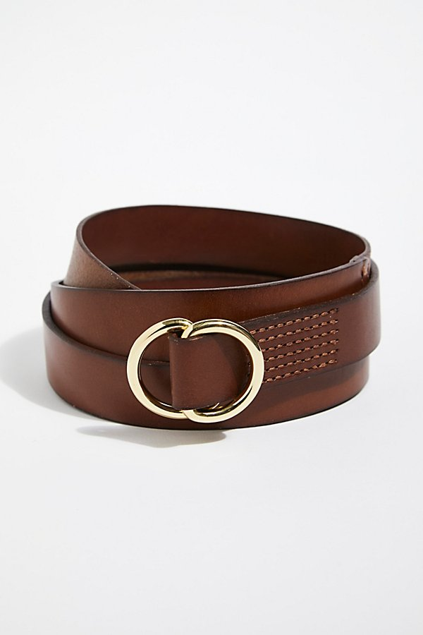 Slide View 3: Skinny Mini Leather Wrap Belt