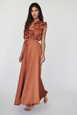 Solar Ruffle Midi Dress by Free People