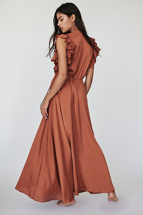 Slide View 3: Solar Ruffle Midi Dress