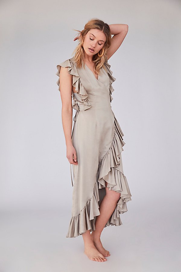 Slide View 1: Zephyr Ruffle Wrap Midi Dress